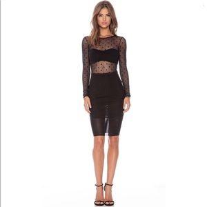 Bec & Bridge Dresses - Bec & Bridge Night Rider Polka Dot Illusion Dress